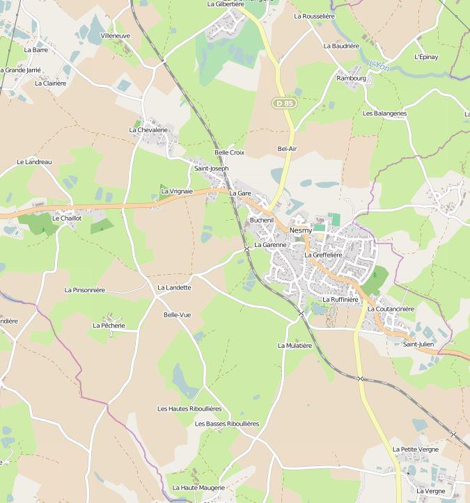 Nesmy sur OpenStreetMap
