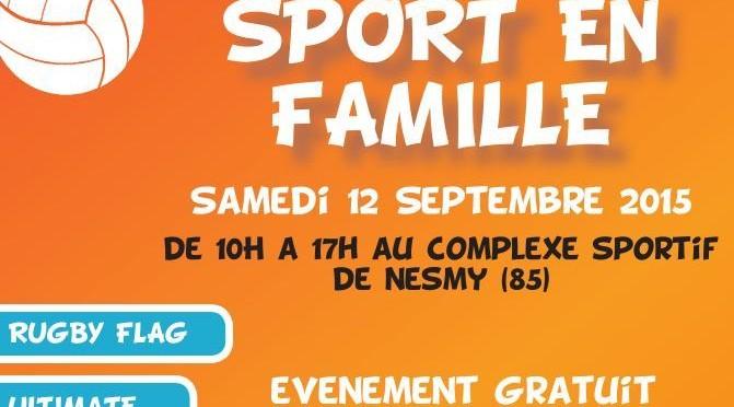 Sport en Famille le 12 septembre !