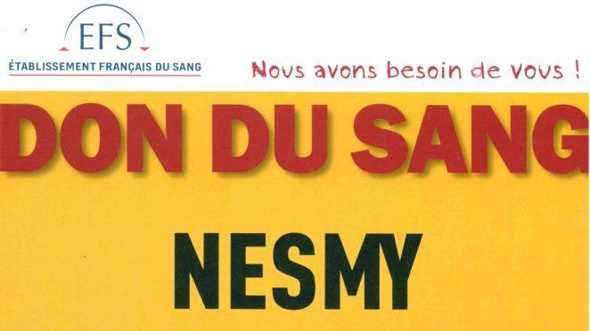 archive : Don de Sang à Nesmy le 8 février 2017