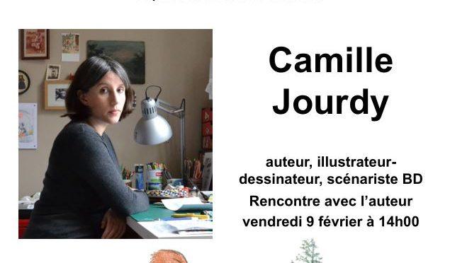 Médiathèque : expo Camille Jourdy