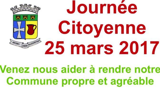 La Journée Citoyenne 25 mars 2017 et le Permis du Civisme du CME